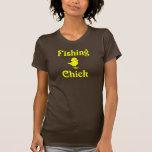 Polluelo de la pesca camisetas