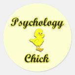Polluelo de la psicología etiquetas redondas