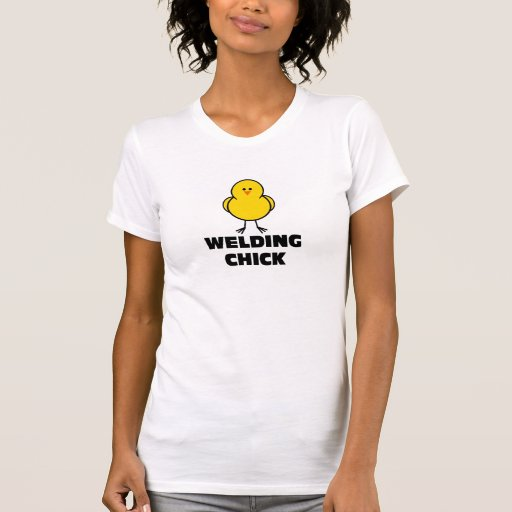 Polluelo de la soldadura camisetas