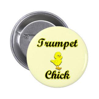 Polluelo de la trompeta pin redondo 5 cm