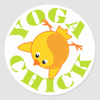 Polluelo de la yoga etiqueta