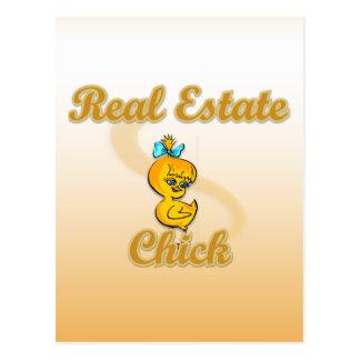 Polluelo de las propiedades inmobiliarias tarjetas postales