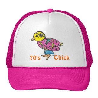 polluelo de los años 70 gorras