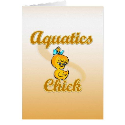 Polluelo de los Aquatics Tarjeta De Felicitación