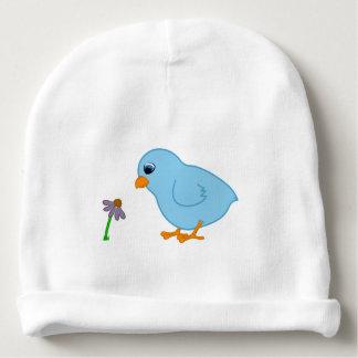 Polluelo de los azules cielos con Coneflower Gorrito Para Bebe