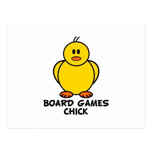 Polluelo de los juegos de mesa tarjetas postales