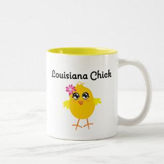 Polluelo de Luisiana Taza De Dos Tonos