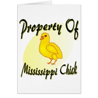 Polluelo de Mississippi Tarjeta De Felicitación