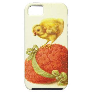 Polluelo de Pascua del vintage y huevo de la flor Funda Para iPhone SE/5/5s