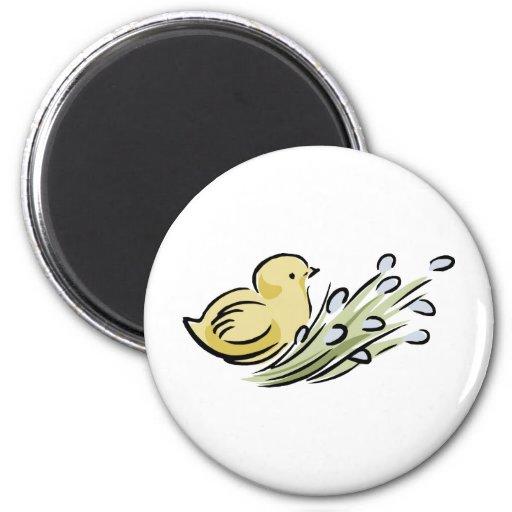 Polluelo de Pascua Imán Redondo 5 Cm
