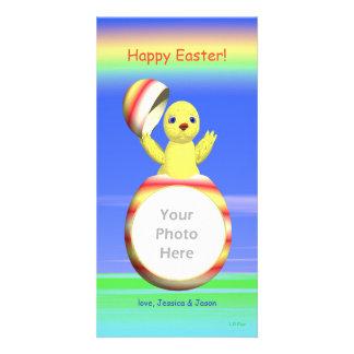 Polluelo de Pascua móvil Tarjetas Con Fotos Personalizadas