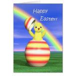 Polluelo de Pascua móvil Tarjeton