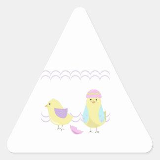 Polluelo de Pascua Pegatina Triangular