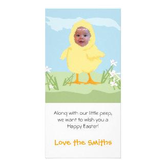 Polluelo de Pascua - tarjeta de la foto Tarjeta Fotografica Personalizada