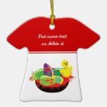Polluelo de Pascua y ornamento del personalizado d Ornamentos De Reyes