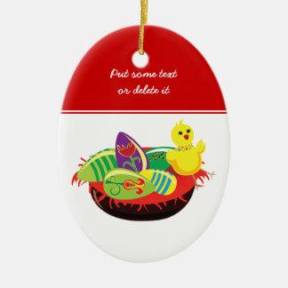 Polluelo de Pascua y ornamento del personalizado Ornamente De Reyes