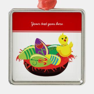 Polluelo de Pascua y ornamento del personalizado Ornamento Para Arbol De Navidad
