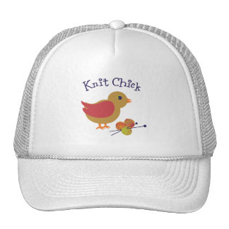 Polluelo de punto gorras