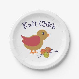 Polluelo de punto platos de papel