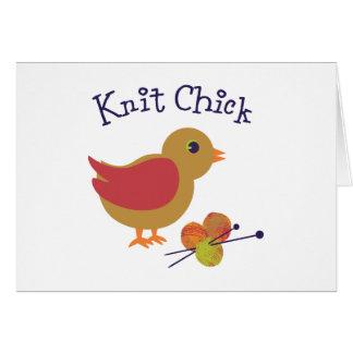 Polluelo de punto tarjeta pequeña