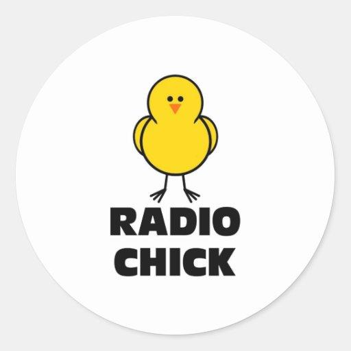 Polluelo de radio etiqueta redonda