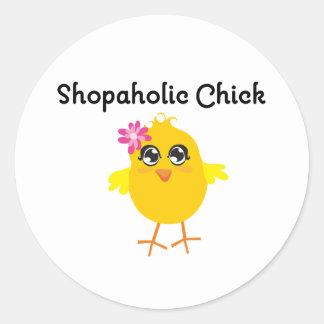Polluelo de Shopaholic Pegatina
