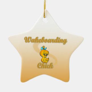 Polluelo de Wakeboarding Adorno Navideño De Cerámica En Forma De Estrella