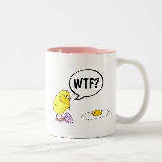 Polluelo de WTF Tazas De Café