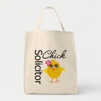 Polluelo del abogado bolsa tela para la compra