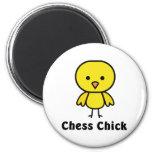 Polluelo del ajedrez iman de nevera