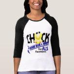 Polluelo del ALS ido azul y blanco 2 Camiseta