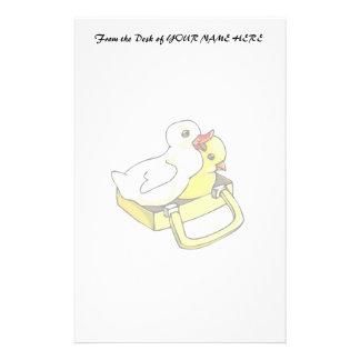 polluelo del anadón en maleta papeleria personalizada