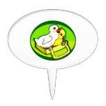 polluelo del anadón en parte posterior del verde d figuras para tartas