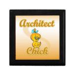 Polluelo del arquitecto caja de joyas