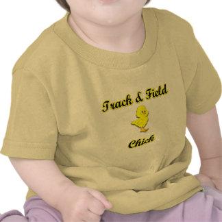 Polluelo del atletismo camiseta