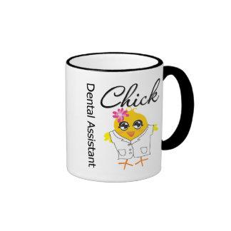 Polluelo del ayudante de dentista tazas de café