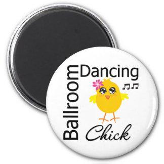 Polluelo del baile de salón de baile imán redondo 5 cm