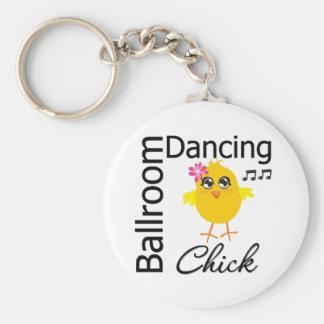 Polluelo del baile de salón de baile llaveros