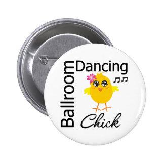 Polluelo del baile de salón de baile pin redondo 5 cm