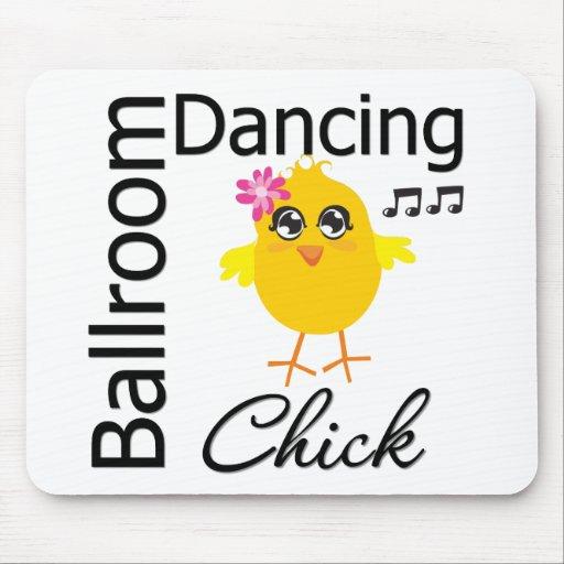 Polluelo del baile de salón de baile tapetes de raton