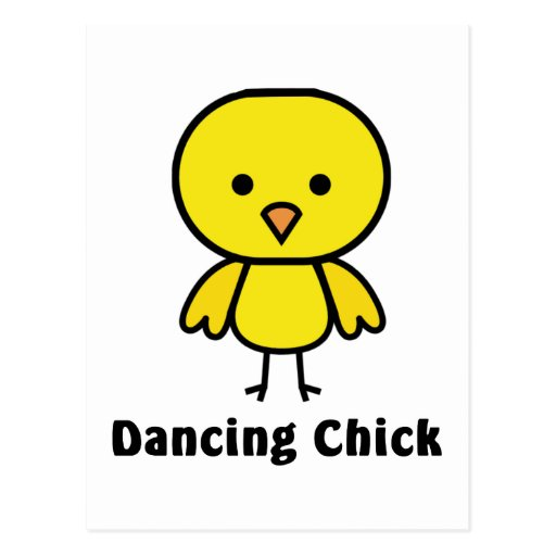 Polluelo del baile tarjetas postales