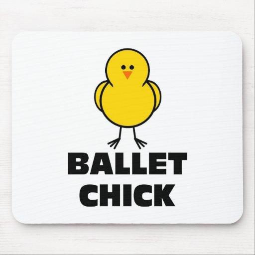 Polluelo del ballet alfombrillas de raton