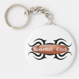 Polluelo del baloncesto tribal llavero redondo tipo pin
