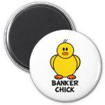 Polluelo del banquero imanes para frigoríficos