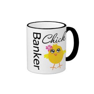 Polluelo del banquero tazas