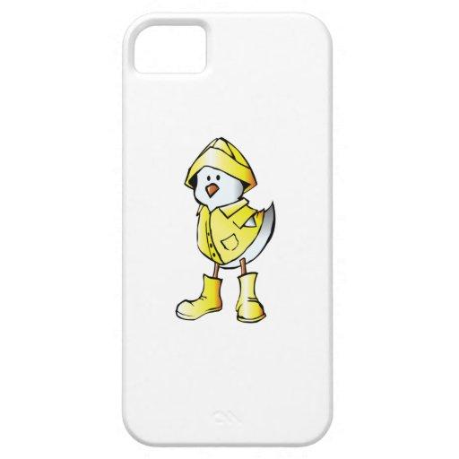 Polluelo del bebé del dibujo animado que lleva un iPhone 5 fundas
