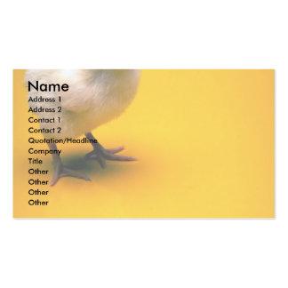Polluelo del bebé en fondo amarillo tarjeta de visita