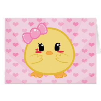 Polluelo del bebé - tarjeta del chica