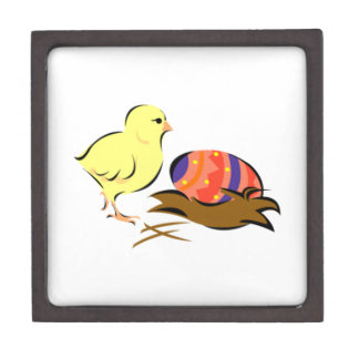 Polluelo del bebé y huevo de Pascua Cajas De Recuerdo De Calidad