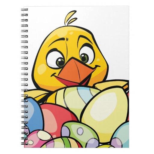 Polluelo del bebé y huevos de Pascua lindos Cuaderno